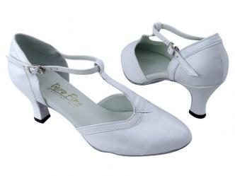 Dance shoes women white leather