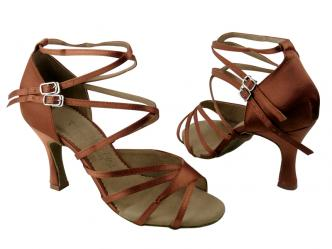 SALSASCHOENEN DARK TAN SATIN